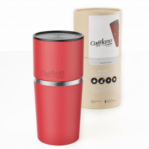 Cafflano Klassic Red - All in one coffee maker