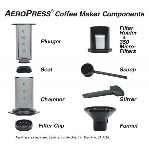 Aerobie Aeropress Coffee Maker with BaristaKit Stainless Steel Filter